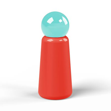 LUND LONDON - Lund Skittle Bottle Mini Coral with Sky Blue Lid 300 ml