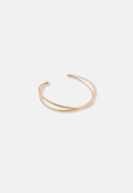 Missguided - Gold Crossover Arm Cuff, Women