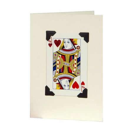 VINTAGE PLAYING CARDS LTD - Vintage Playing Cards Queen Of Hearts Greeting Card