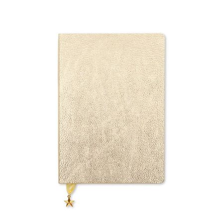 GO STATIONERY - Go Stationery Metallic Light Gold All That Glitters A5 Diary Wtv Undated