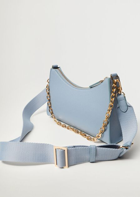 Mango - medium blue Crossbody bag with chain