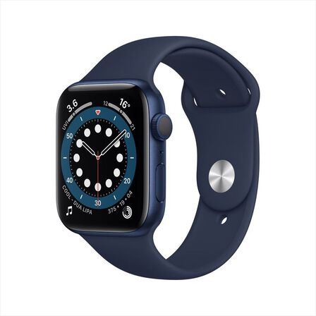 APPLE - Apple Watch Series 6 GPS 44mm Blue Aluminium Case with Deep Navy Sport Band