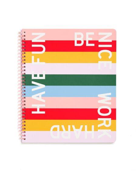 BAN.DO - ban.do Rough Draft Large Notebook Work Hard Have Fun Benice
