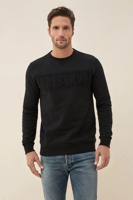 Salsa Jeans - Black Sweater with آ´PRESERVEآ´ print