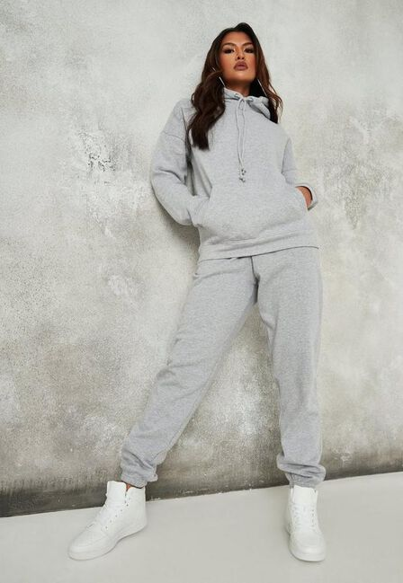 Missguided - Grey Marl Oversized 90S Joggers