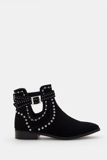 Mohito -  Leather Ankle Boots - Black