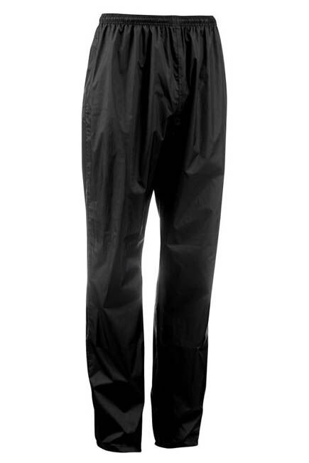 QUECHUA - Waterproof over-trousers - black, W30 L33