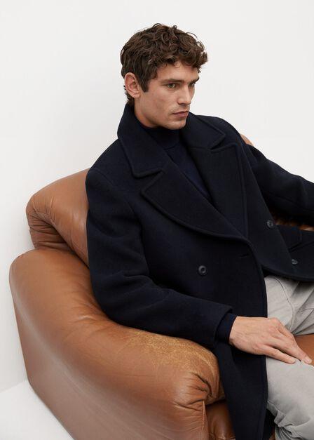 Mango - navy 100% merino wool washable sweater