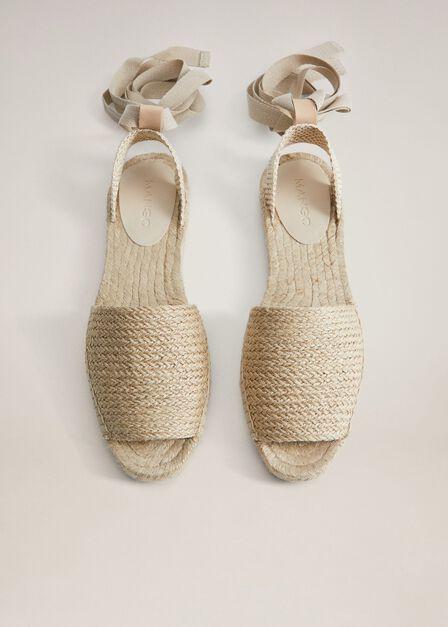 Mango - light beige Laces sling back espadrilles