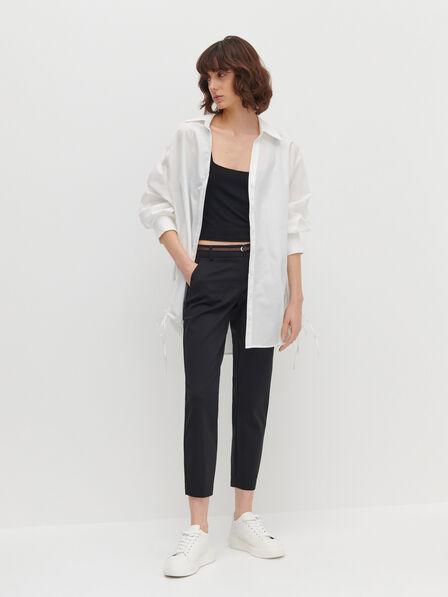 Reserved - Cigarette pants with belt - Black                                                                                                                                                                      SERS & BELT