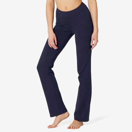 NYAMBA - W30 L31  FIT+ 500 Women's Regular-Fit Stretching Leggings, Navy Blue