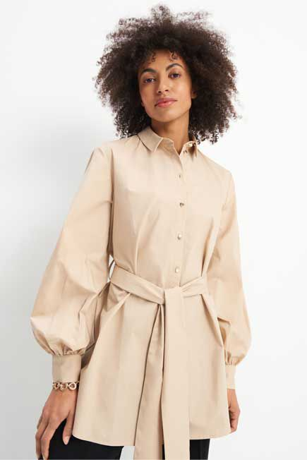 Mohito -  Shirt With Puffy Sleeves Eco Aware - Beige