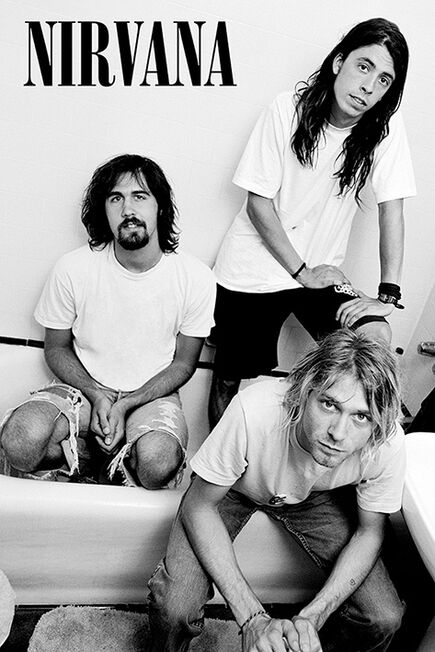 PYRAMID POSTERS - Nirvana Bathroom Maxi Poster [61 x 91.5 cm]