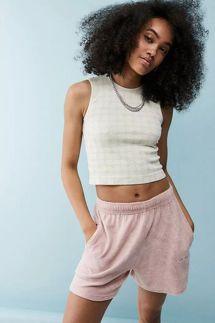 Urban Outfitters - Pink iets frans... Towelling Shorts, Women