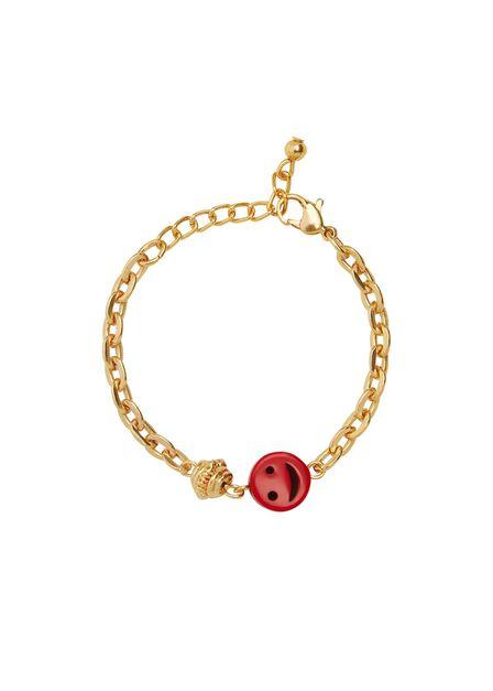 Mango - gold Beaded chain bracelet, Kids Girl