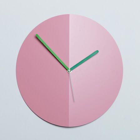 BLOCK - Block Origami Wall Clock Mountain Fold Pink