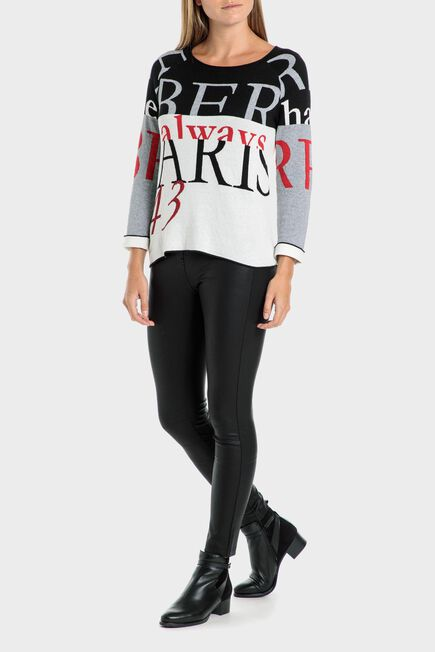 Punt Roma - Printed sweater