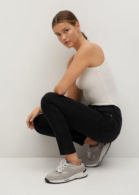Mango - Open grey High waist skinny Noa jeans