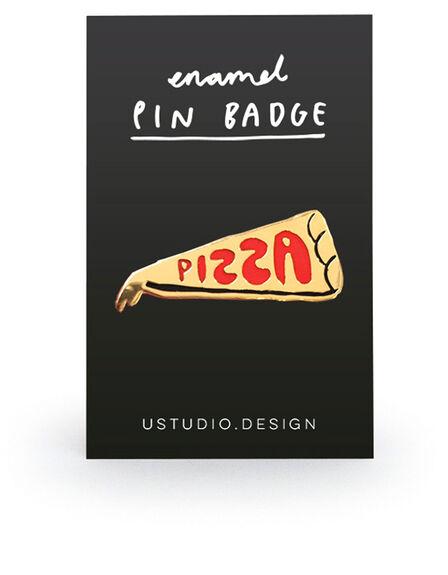 USTUDIO DESIGN LTD - Ustudio Pin Badge Pizza Slice