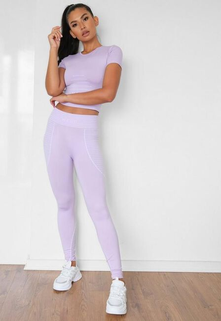 Missguided - Lilac Seamless Missguided Highwaisted Gym Leggings