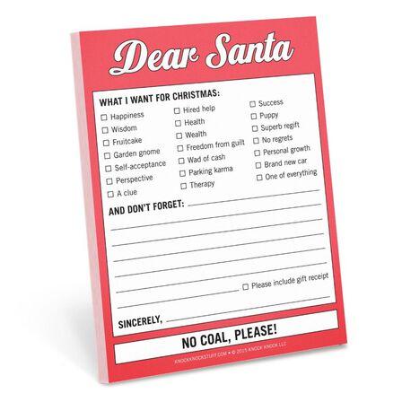 KNOCK KNOCK - Knock Knock Nifty Dear Santa Sticky Notes