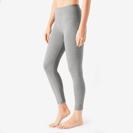 NYAMBA - W38 L31  7/8 Cotton Fitness Leggings Fit+, Grey