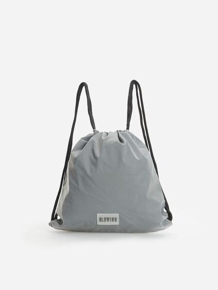 Reserved - Kids' Reflective Drawstring Bag - Grey