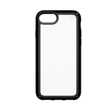 Speck - Speck Presidio Show Case Clear/Black for iPhone 8