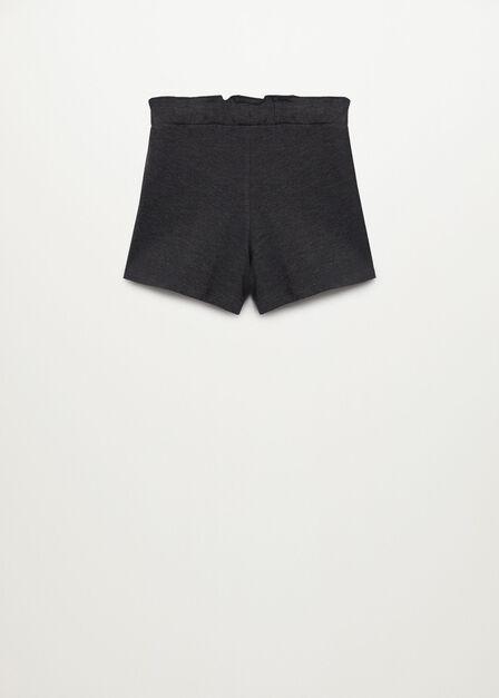 Mango - dark grey Paper bag knitted shorts