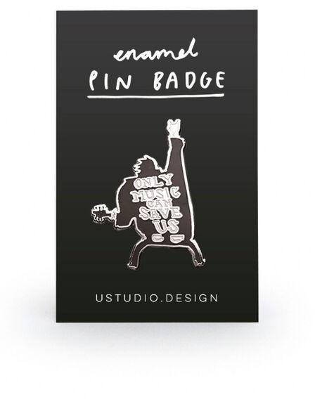USTUDIO DESIGN LTD - Ustudio Pin Badge Only Music Can Save Us