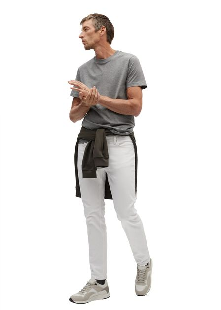 Mango - Light Pastel Grey  Sustainable Cotton T-Shirt