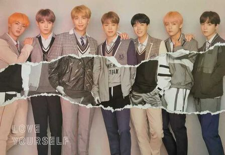 null - BTS Love Yourself Pink Poster (41 x 59 cm)