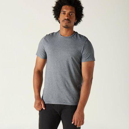 NYAMBA - Extra Large  Fitness Pure Cotton T-Shirt Sportee, Grey