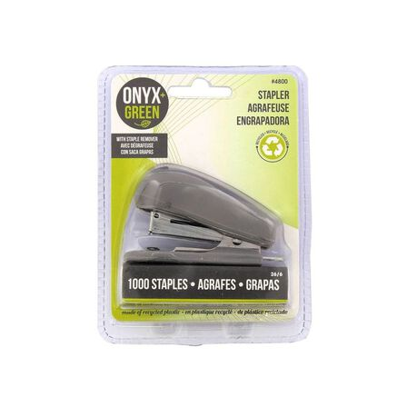 ONYX + GREEN - Onyx & Green Mini Stapler with 1000 Staples