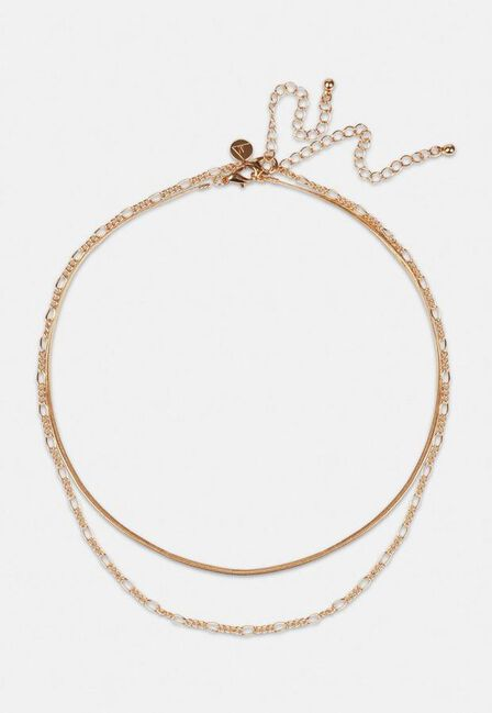Missguided - Gold Gold Look Double Chain Necklace