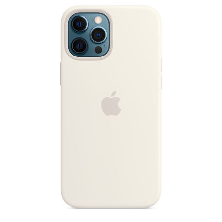 APPLE - Apple Silicone Case White with MagSafe for iPhone 12 Pro Max