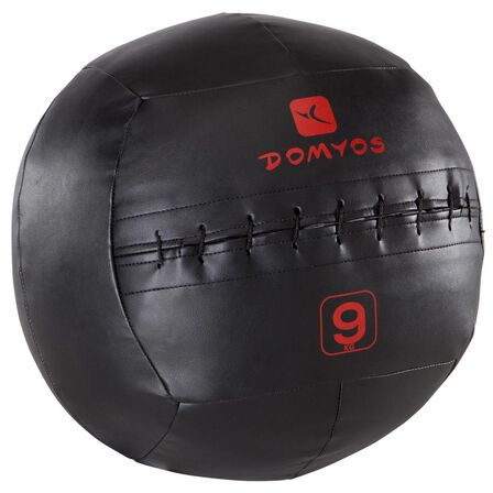 DOMYOS - 9 Kg Wall Ball - Black