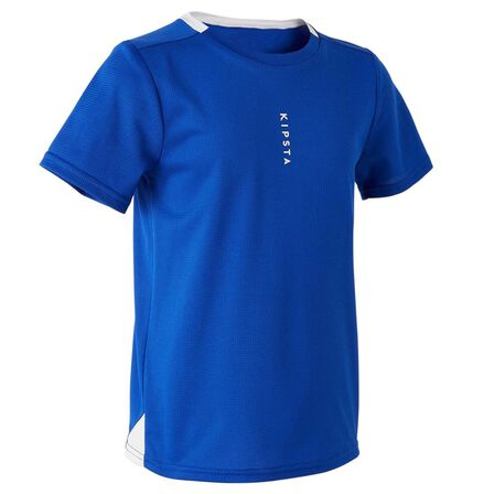 KIPSTA - 14-15 Years  F100 Junior Football Shirt, Bright Indigo