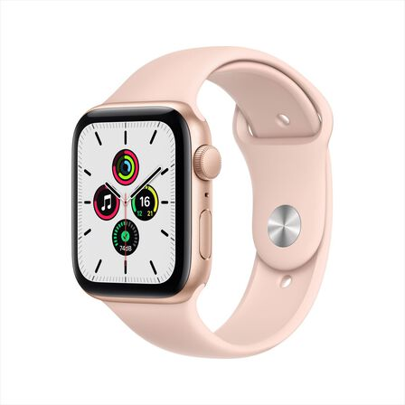 APPLE - Apple Watch SE GPS 40mm Gold Aluminium Case with Pink Sand Sport Band
