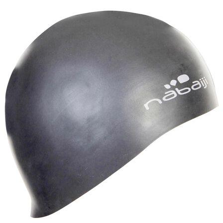 NABAIJI - Unique Size  Thin Silicone Swim Cap - Grey, Grey