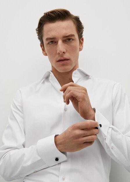 Mango - white Slim fit Tailored cotton shirt