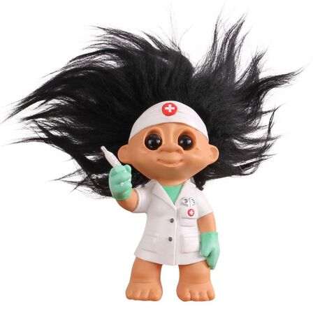 BYSOMMER - Good Luck Troll Nurse Statue [9 cm]