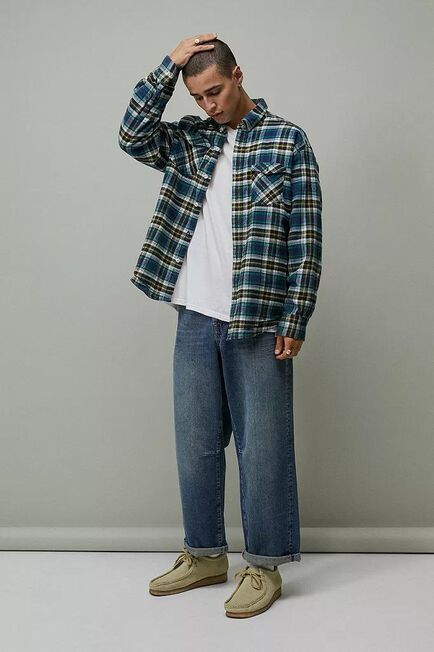 Urban Outfitters - Blue BDG Mid Wash Cinch Straight Jeans