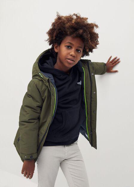 Mango - beige - khaki Hood quilted coat