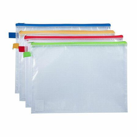 DELI - Deli Zip Bag A4 Assorted [Includes 1]