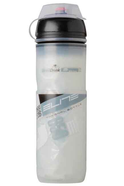 ELITE - 650 ML Iceberg Insulated Cycling Water Bottle - White, Unique Size