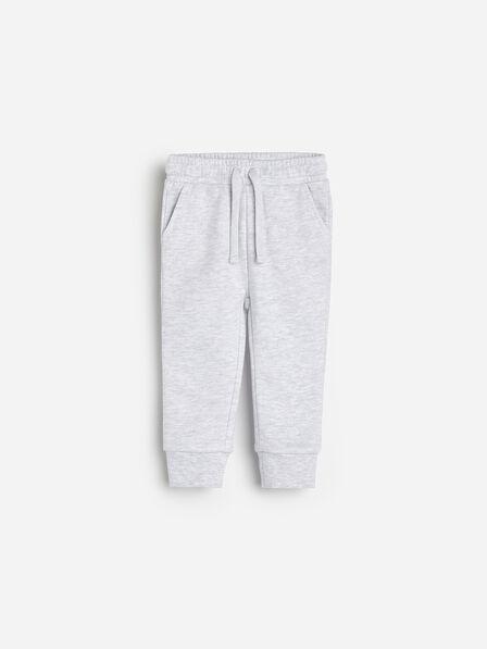 Reserved - Light Grey Melange Sweatpants, Kids Girl