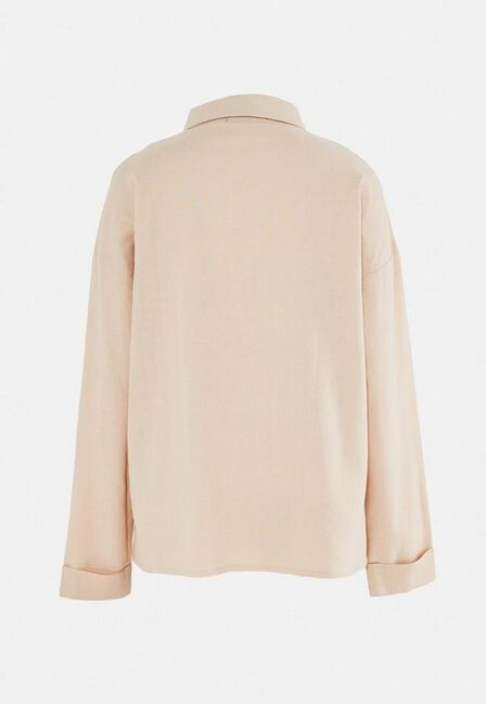 Missguided - Camel Sand Extreme Oversized Linen Look Shirt