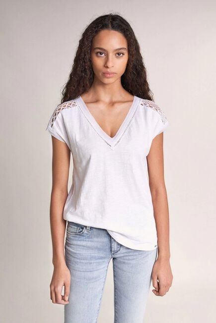 Salsa Jeans - Beige Top with lace
