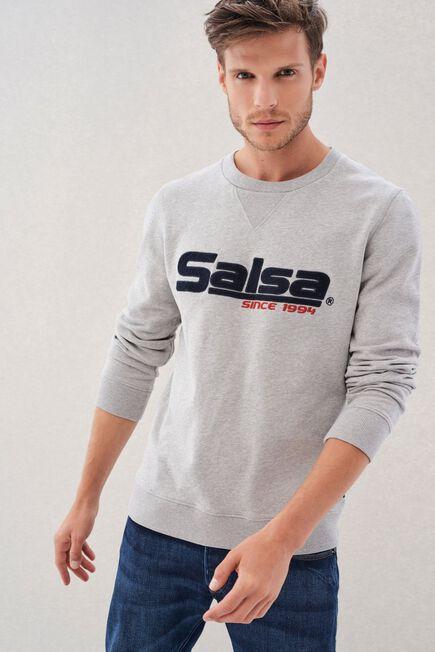 Salsa Jeans - Grey Regular Fit Sweatshirt With Branding Salsa